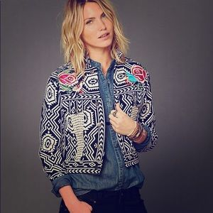Free People Black & White Spring Jacket